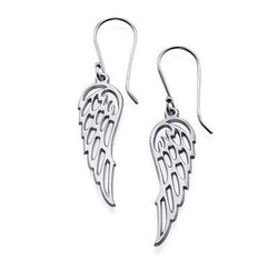 Engelsflügel Ohrringe in Silber Produktfoto