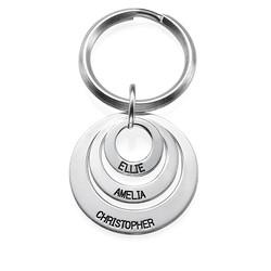 Geschenke für Mütter – Schlüsselanhänger mit 3 gravierten Scheiben Produktfoto