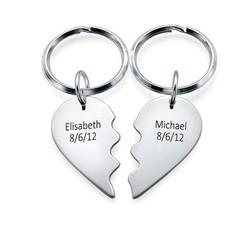 Partner Schlüsselanhänger in Sterling Silber Produktfoto