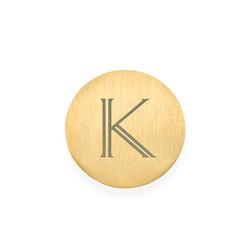 Vergoldetes Plättchen mit Initiale für Charm Medaillon Produktfoto