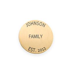 Vergoldetes gravierbares Plättchen für Charm-Medaillon Produktfoto