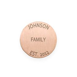 Gravierbares rosévergoldetes Plättchen für Charm Medaillon product photo