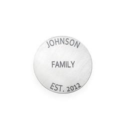 Gravierbares Plättchen in Silberoptik für Charm Medaillon Produktfoto