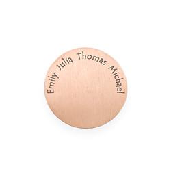 Gravierbares Rosegold vergoldetes Plättchen für Charm Medaillon Produktfoto