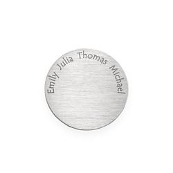Gravierbares Plättchen für Charm Medaillon - Silber Produktfoto