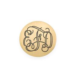 Gravierbares Monogramm Plättchen für Charm Medaillon Produktfoto