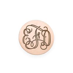 Rosegold vergoldetes Monogramm Plättchen für Charm Medaillon Produktfoto
