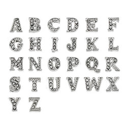 Strassbuchstaben Charms Produktfoto