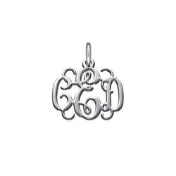 Silber Monogramm Charm Produktfoto