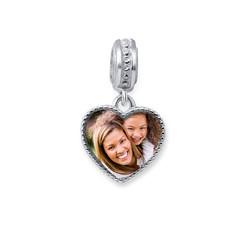 Herzförmiges Foto-Charm Produktfoto