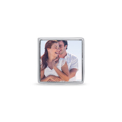 Quadratische Foto-Charm-Perle Produktfoto
