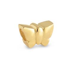 Vergoldete Schmetterling Charm-Perle Produktfoto