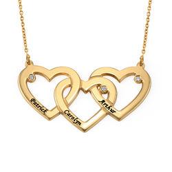 Herzkette mit Vergoldung für Frauen mit Diamant Produktfoto