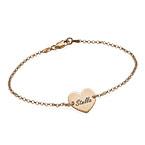 18k Roségold vergoldetes Herzarmband für Pärchen