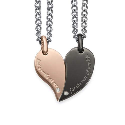 2-teiliges Herzketten-Set für Paare - 1