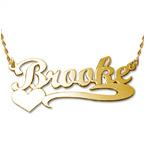 585 Gold Namenskette mit Herz