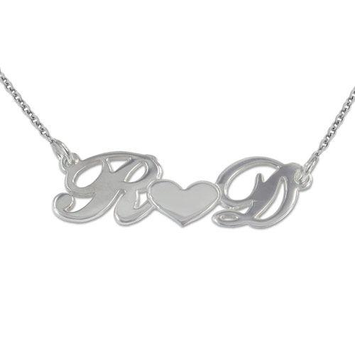 925 Silber Buchstabenanhänger mit Herz