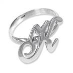 925er Silber Buchstaben Ring