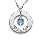 925er Silber Partnerkette mit Kristall