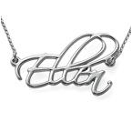 925er Silber Skript Namenskette