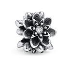 Blumenförmige Charm-Perle mit Zirkonia