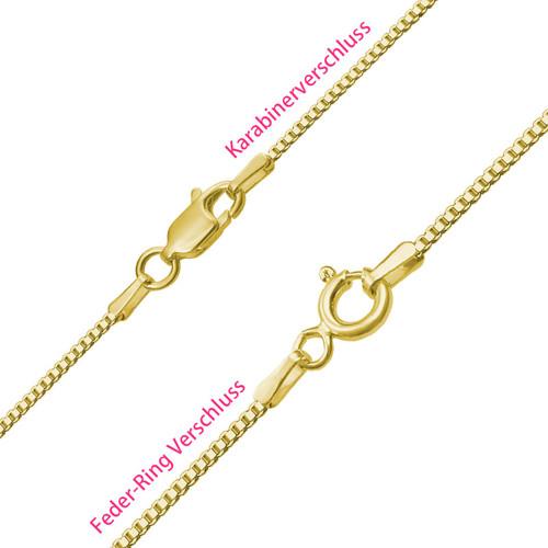 Carrie Namenskette aus 750er vergoldetem Silber - 3