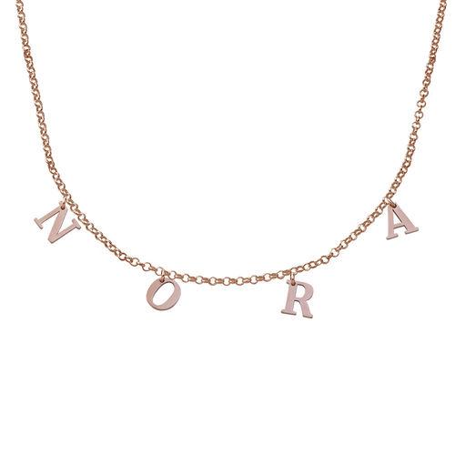 Choker-Kette mit Initialen mit 750er Rosévergoldung