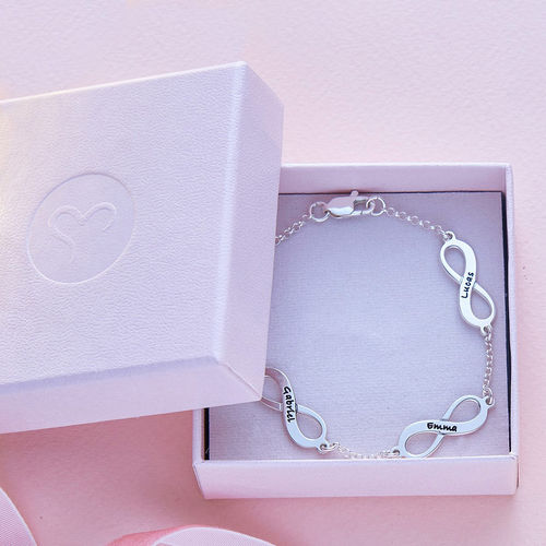 Mehrfach Infinity-Armband aus Silber - 5