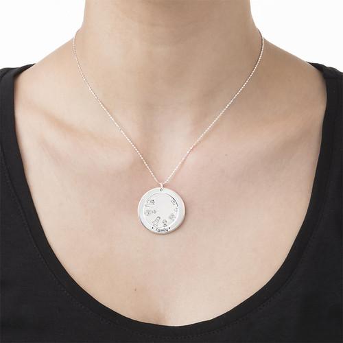 Familien Halskette aus Sterling Silber - 2