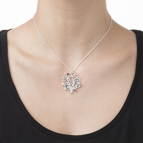 Familienstammbaum Halskette mit Geburtssteinen - 2
