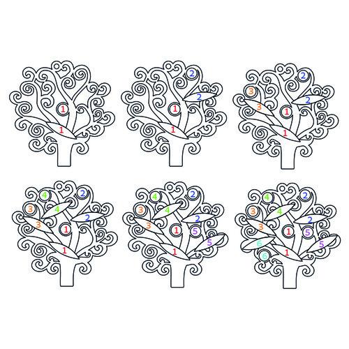 Familienstammbaum Halskette mit Geburtssteinen - 4