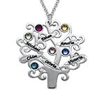 Familienstammbaum Halskette mit Geburtssteinen