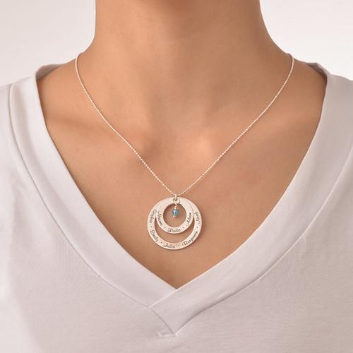 Geburtsstein Halskette für Großmütter - 2