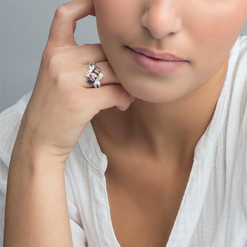 Geburtstein-Ring für Mütter - 2