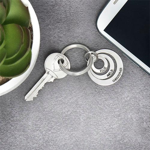 Geschenke für Mütter – Schlüsselanhänger mit 3 gravierten Scheiben - 1