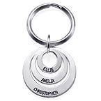 Geschenke für Mütter – Schlüsselanhänger mit 3 gravierten Scheiben