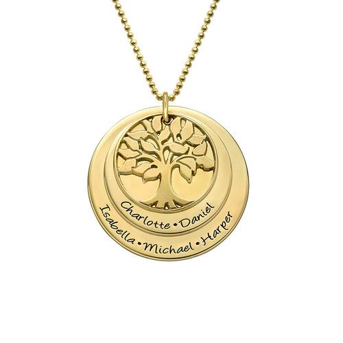 Gestufte Stammbaumkette aus vergoldetem Silber