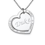 Gravierbare Familien-Herzkette aus 925er Silber