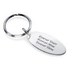 Gravierbarer Schlüsselanhänger mit ovaler Scheibe