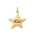 Gravierbarer Stern Charm Anhänger - Vergoldet