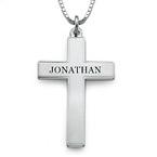 Gravierte Kreuzkette für Männer