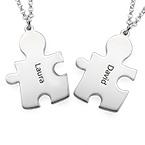 Gravierte Puzzleteile als Freundschaftskette