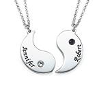 Gravierte Yin Yang Halskette für Päarchen