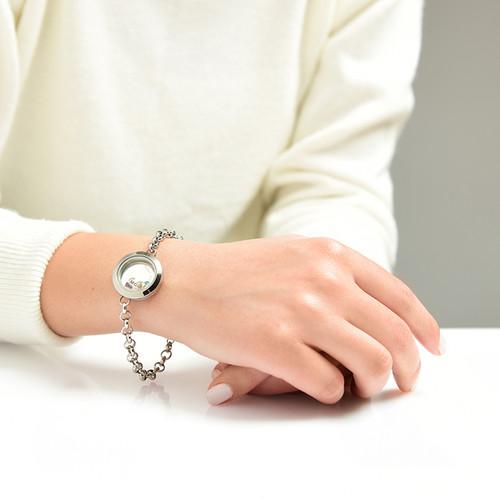 Graviertes Armband aus Edelstahl mit Medaillon für Mutter oder Großmutter - 3