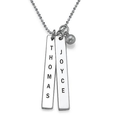 925er Silber Halskette mit graviertem Namensanhänger | MeineNamenskette