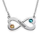 Herz Infinity -  Unendlich Kette mit Swarovski Kristall