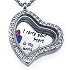 Ich trage dein Herz bei mir Charm-Medaillon