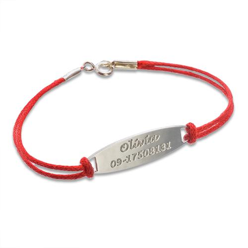 identifikations kinder armband aus 925er silber mit lederband meinenamenskette. Black Bedroom Furniture Sets. Home Design Ideas