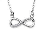 Infinity - Unendlich Halskette mit Zirkonia