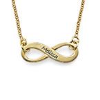 Infinity -unendlichkette aus 750er vergoldetem 925er Silber